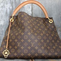 LV Fashion Lady Printed Shopping Bag Hand Bill Shoulder Bag LV pattern coffee
