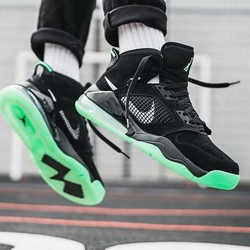 Nike Air Jordan Mars 270 Fashionable Men Casual Running Sneakers Sport Shoes Black&Green