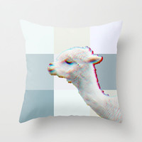 LAMA Throw Pillow by M✿nika  StrigelNEW CUTE Pillow in 3 SIZES  other animals available!