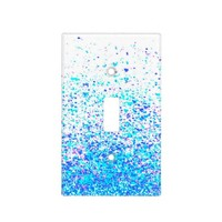 sparkly blue light switch cover