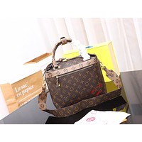 Louis Vuitton LV Women Leather Shoulder Bag Shopping Satchel LV Tote Bag Handbag