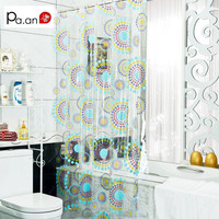 New Arrival Transparent Pvc Bathroom Shower Curtain  Endless Printed Waterproof Moldproof Curtains Home Products Free Shipping