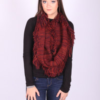 The Fringe Way Scarf (Crimson)