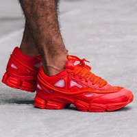 Raf Simons x Adidas Consortium Ozweego S74584 Red Women Men Casual Trending Running Sneakers