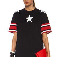 GIVENCHY | Stars and Stripes Cotton Tee in Black www.fwrd.com