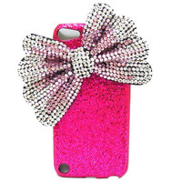 iPod Touch 5 Case Bling iPod Touch 5 CaseSilver Bow by jason118