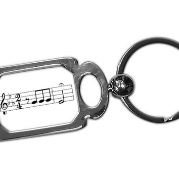 Beethoven 5th Symphony Metal Key Chain - Perfect Music / Band Teacher Gift