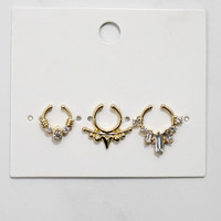 City of Gold Faux Septum Ring Set