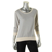 Theory Womens Tilania Modal Striped Pullover Top