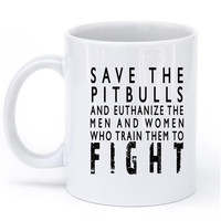 save the pitbulls mug