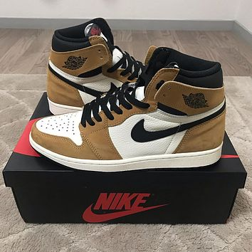 """Nike AIR JORDAN 1 RETRO HIGH OG """"ROOKIE OF THE YEAR"""" sneakers basketball shoes"""