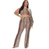 fhotwinter19 new hot sale snake skin tattoo sexy leggings women's two-piece suit