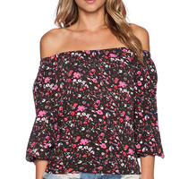 Eight Sixty Off The Shoulder Top in Black
