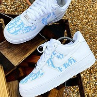 DIOR NIKE Air force one Fashion casual shoes-2