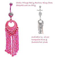 Sexy Chain Fringe Belly Button Navel Ring - available in five colors