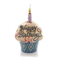 Jim Shore BIRTHDAY CUPCAKE MINI Polyresin Heartwood Creek 4052066