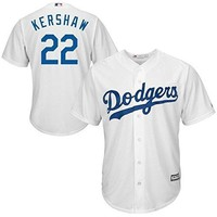 Clayton Kershaw Los Angeles Dodgers #22 MLB Men's Cool Base Home Jersey White