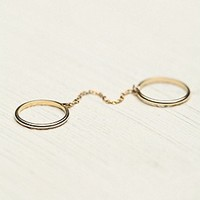 Bora  Chain Reaction Double Ring at Free People Clothing Boutique