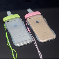 New Arrival Back Cover for iPhone6 Baby Nipple Bottle Clear Transparent Silicone TPU Phone Cases For iPhone 6 6S 6Plus 7 7Plus