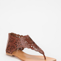 Urban Outfitters - Kimchi Blue Floral Back-Zip Thong Sandal