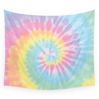 Society6 Pastel Tie Dye Wall Tapestry