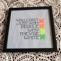 Mean Girls Quote Framed Cross Stitch