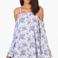 Lilly Floral Cold Shoulder Shift Dress