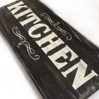 "Decorative Home Sign ""Kitchen"" Chalkboard Inspired"
