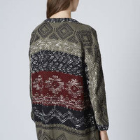PATTERNED SLOUCHY CARDIGAN