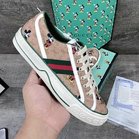 GUCCI x Disney new men's and women's fashionable all-match low-top flat shoes