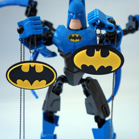 His/Hers & Best Friends Batman Signal Acrylic Plastic Necklace Charms