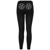 Pentagram Black Women's Leggings