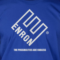 Enron Possibilites Are Endless s DaScreen Printed T-Shirt Mens Funny Geek Fathers Day Christmas Father Kids Gift