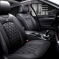 6pc. Luxury Leather 3D Front & Rear Universal Car Seat Cover Set
