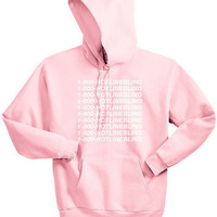 1-800 Hotline Bling Drake Light Pink Hoodie