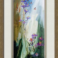 """Wildflowers and Bees Oil Painting Ginette"" by Ginette Callaway"