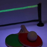 Glow-In-The-Dark Desktop Ping-Pong Game- Clear One