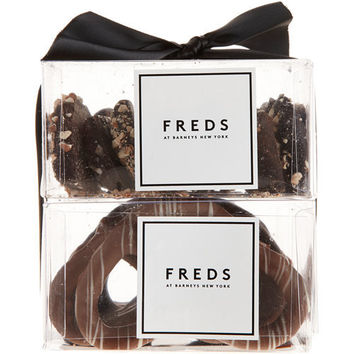 FREDS at Barneys New York Two Tier Tower: Chocolate-Covered Pretzels and Sea Salt Toffee at Barneys New York at Barneys.com