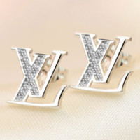 LV Louis Vuitton 2018 new women's fine classic letters earrings personalized earrings F0626-1
