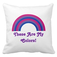 Bisexuality rainbow pride Throw Pillow