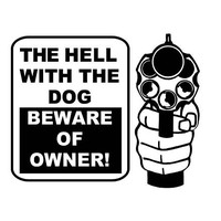 Beware of Owner decal Beware of Dog decal Gun Rights Decal Right to Bear Arms Decal 2nd Amendment Rights decal Car Decal Window decal