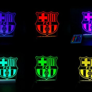 Fc Barcelona Soccer Led Lamp Sign 16 From Silveryline On Etsy