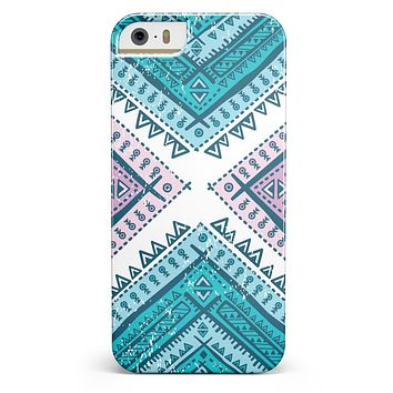 Ethnic Aztec Blue and Pink Point iPhone 5/5s or SE INK-Fuzed Case