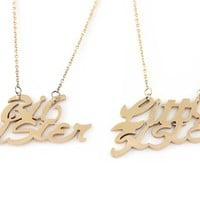 """Sister Necklace Big Sister Little Sister, Sisters Necklaces Set (2pcs), Sister gift 18"""" Chains Included"""