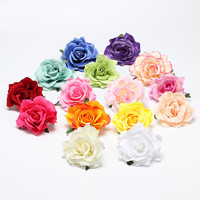 New Flocking Cloth Red Rose Flower Hair Clip Hairpin DIY Headdress Hair Accessories For Bridal Wedding 11colors Free Shipping