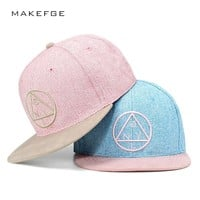 Trendy Winter Jacket Snapback cap NY round triangle embroidery brand flat brim baseball cap youth hip hop cap and hat for boys and girls AT_92_12