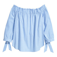 Off-the-shoulder Blouse - from H&M