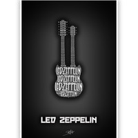 Led Zeppelin Guitar Poster