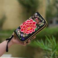 National Trend Embroidered Women Wallets Long