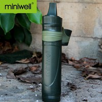 Outdoor Entertainment Camping Water Filter Straw Survival Kit